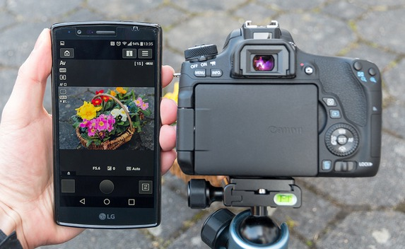 how to connect canon camera connect app
